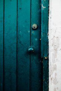 close up photo of wooden door