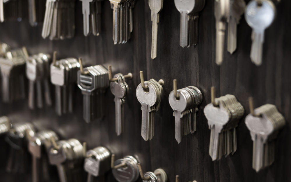 rows of keys